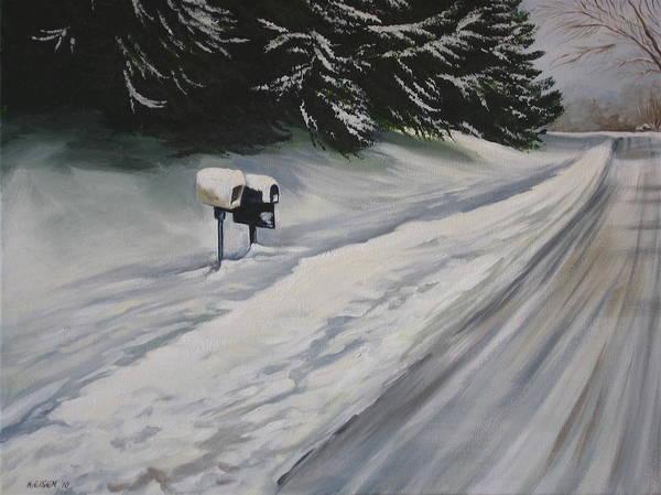Snowy Sentinal Poster