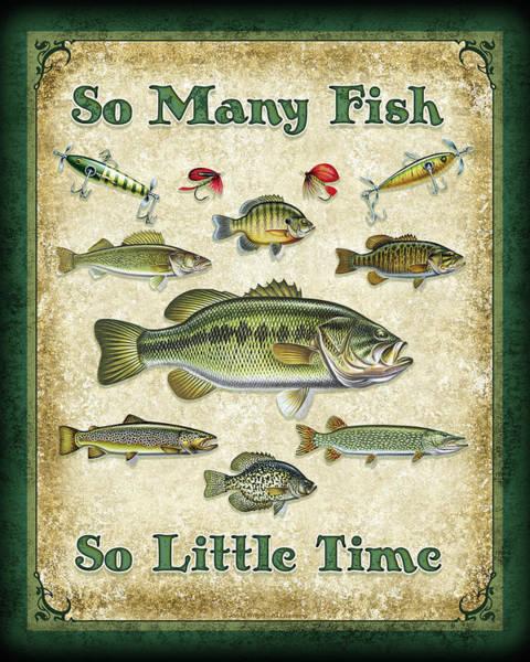 So Many Fish Sign Poster
