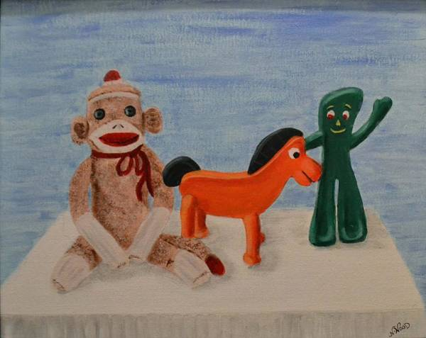Sock Monkey And Friends Poster