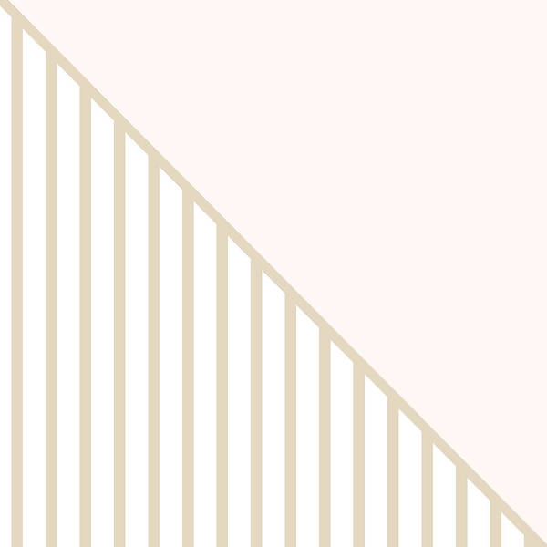 Soft Blush And Champagne Stripe Triangles Poster