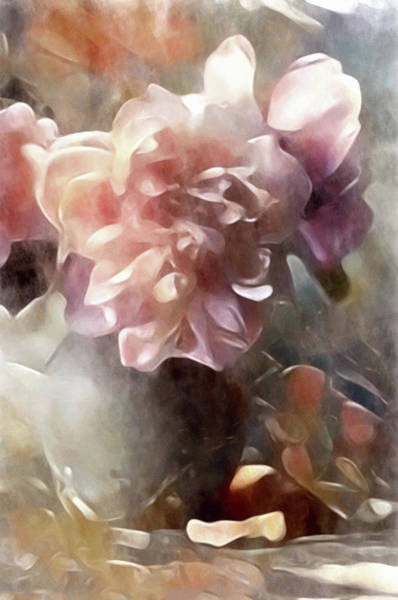 Poster featuring the mixed media Soft Pastel Peonies by Susan Maxwell Schmidt