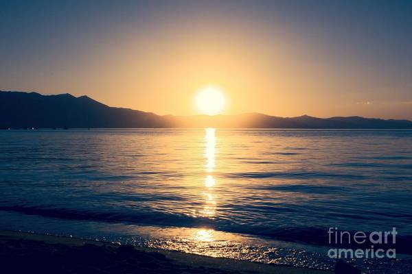 Soft Sunset Lake Poster
