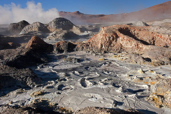 Sol De Manana Geothermal Field  Poster