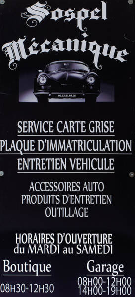 Sospel Mechanic Poster