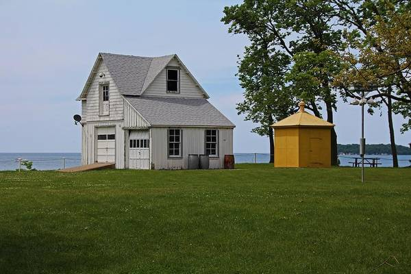 South Bass Island Lighthouse Barn And Oil Storage Building I Poster