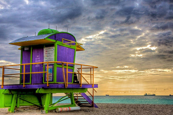 South Beach Dawn Poster
