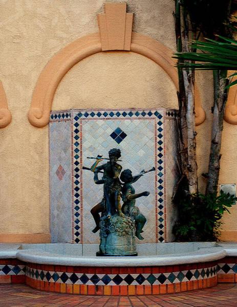 Spanish Fountain Poster