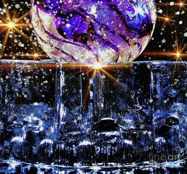 Sparkling Glass Poster