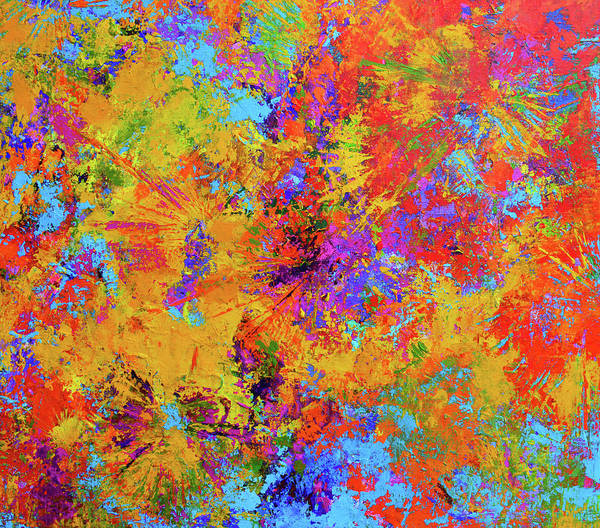 Sparks Of Consciousness Modern Abstract Painting Poster