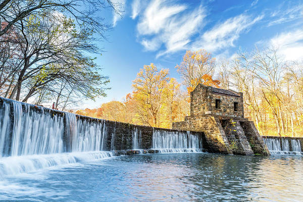 Poster featuring the photograph Speedwell Dam Waterfall by Mihai Andritoiu
