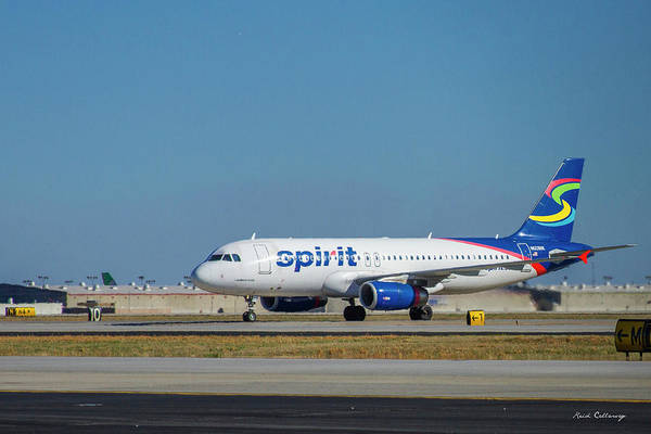 Spirit Airlines Airbus A320 N608nk Airplane Art Poster