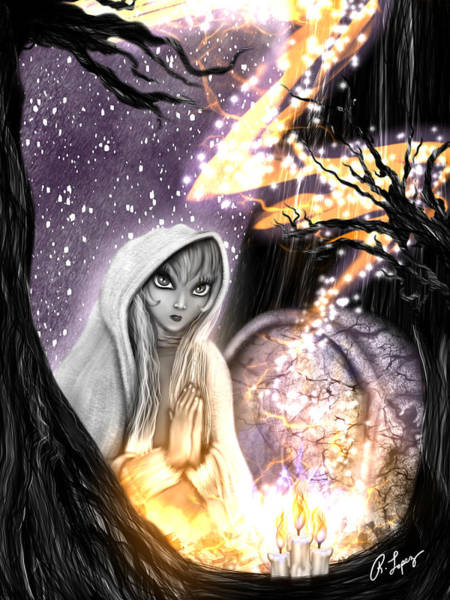 Spiritual Ghost Fantasy Art Poster