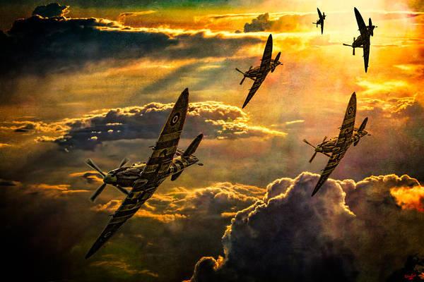Spitfire Attack Poster