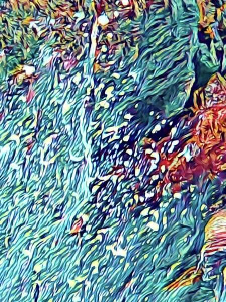 Splash Of Blue Ocean In Puna Poster