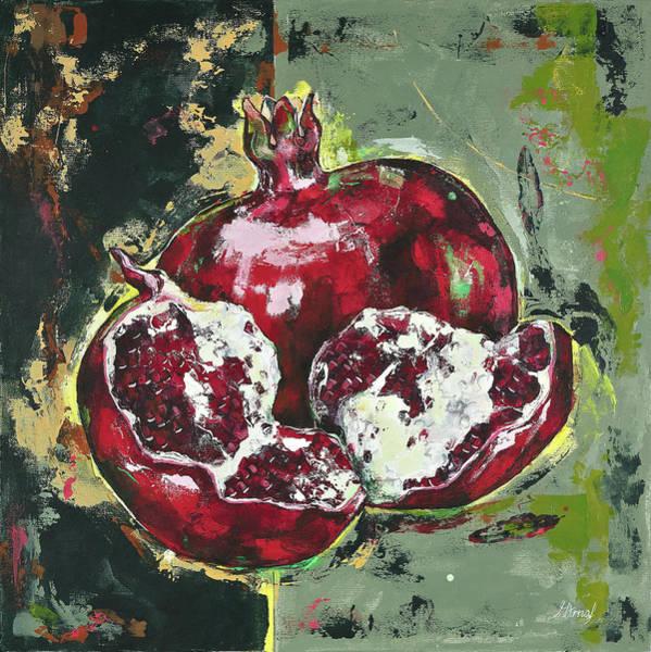 Split Pomegranate Poster