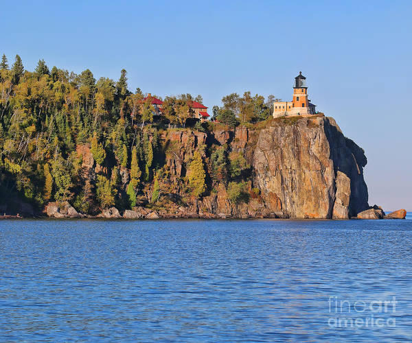 Split Rock Lighthouse Panorama 9323 9324 Poster