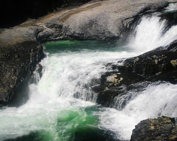 Spokane Water Fall Poster
