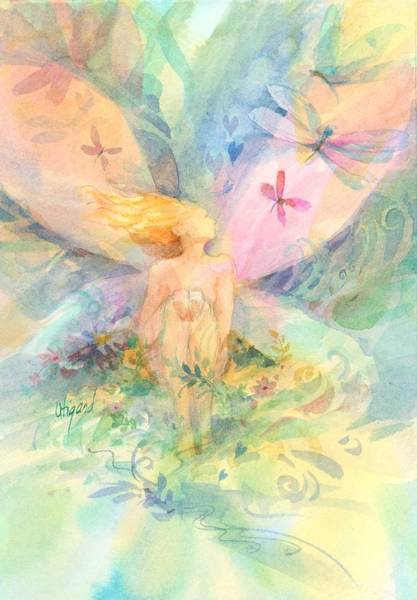 Poster featuring the painting Spring Fairy by Carolyn Utigard Thomas