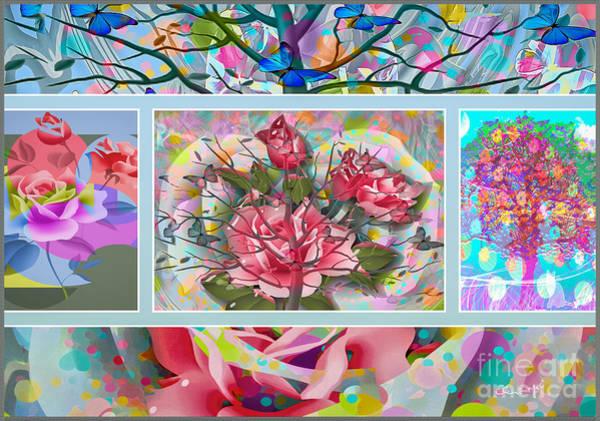Poster featuring the digital art Spring Medley by Eleni Mac Synodinos