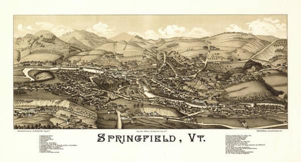 Antique Springfield, Vt. Poster