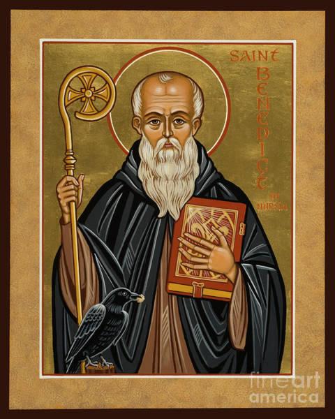 St. Benedict Of Nursia - Jcbnn Poster