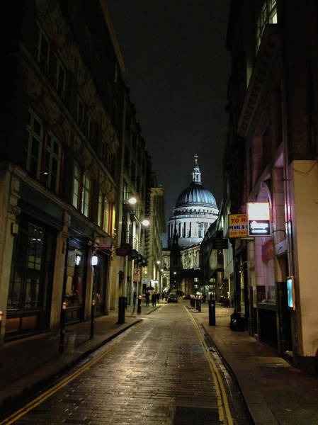 St. Pauls By Night Poster