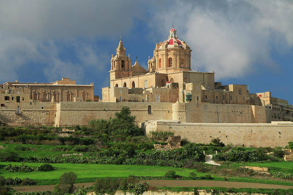 St. Paul's Cathedral And City Walls Mdina Malta Poster