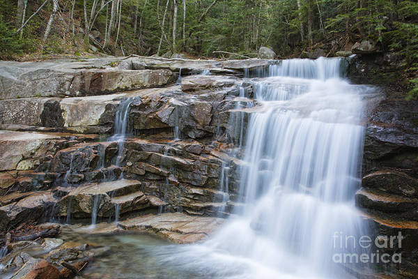Stairs Falls - White Mountains New Hampshire Poster