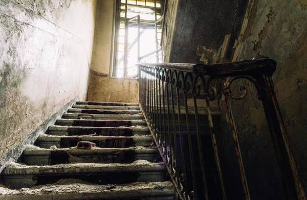 Stairs In Haunted House Poster