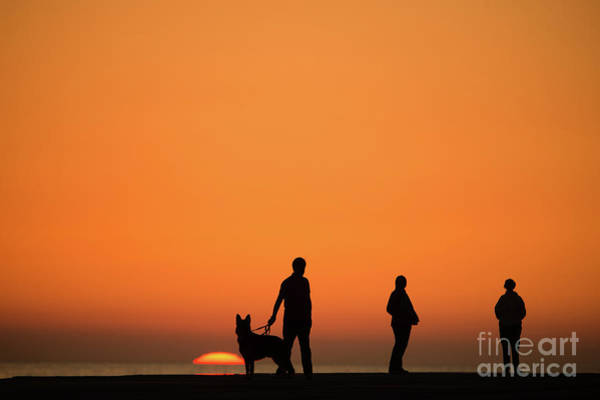 Standing At Sunset Poster