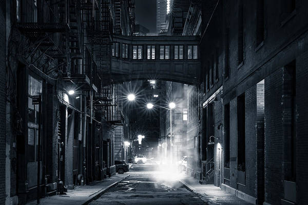 Poster featuring the photograph Staple Street Skybridge By Night by Mihai Andritoiu