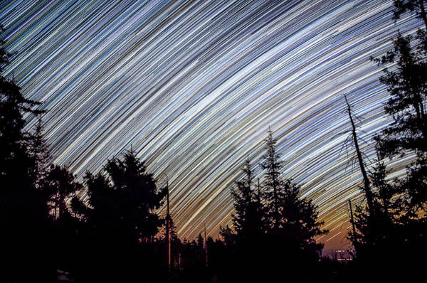 Star Trails From Mt. Graham Poster