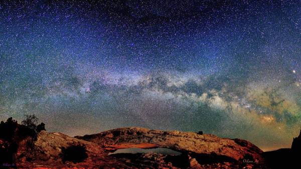 Starry Night Over Mesa Arch Poster
