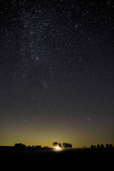 Starry Sky Over Virginia Farm Poster