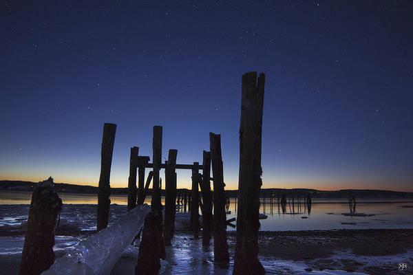 Stars At Sandy Point Sunrise  Poster