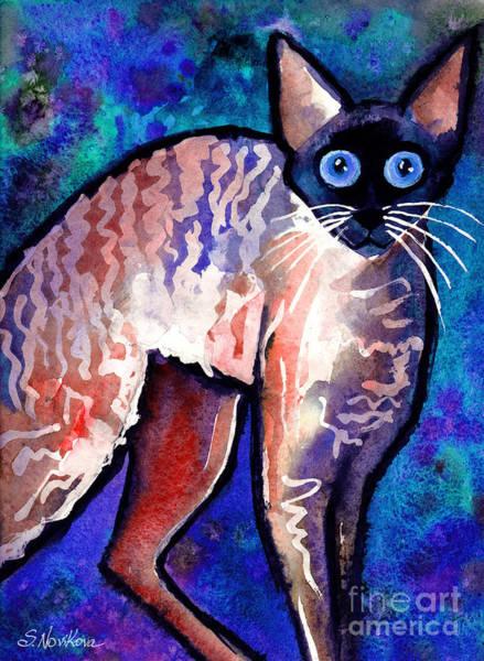 Startled Cornish Rex Cat Poster
