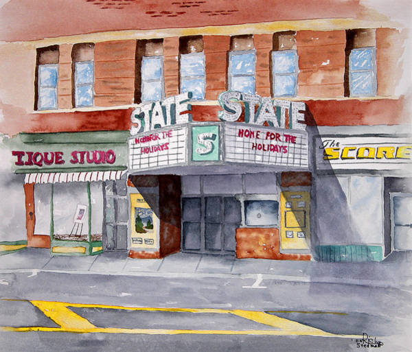 Poster featuring the painting State Theater by Rich Stedman