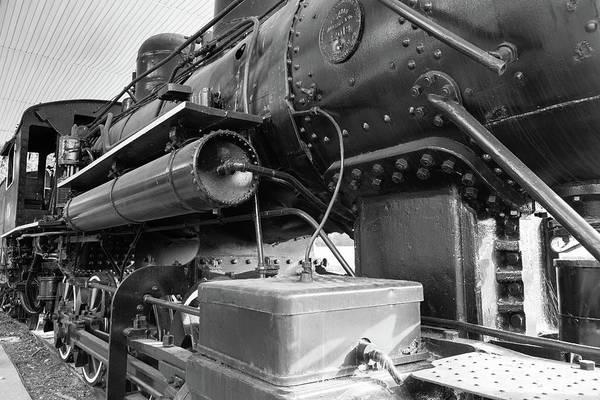 Steam Locomotive Side View Poster