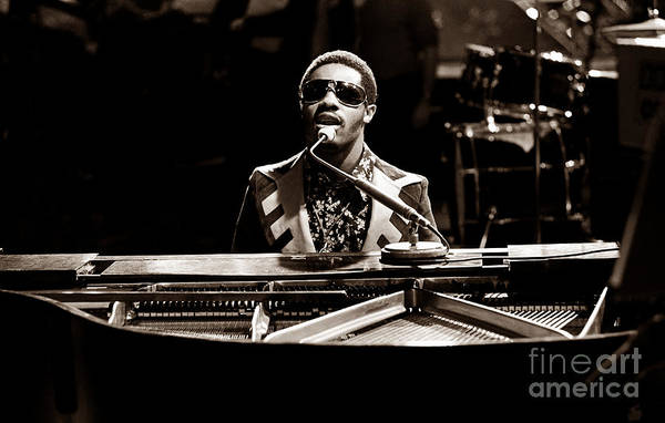 Stevie Wonder Softer Gentle Mood - Sepia Poster