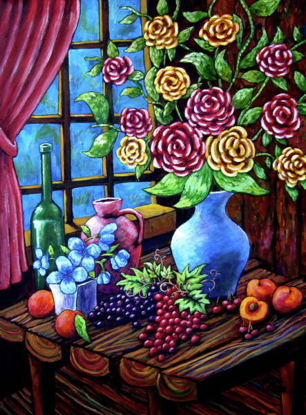 Still Life By The Window Poster
