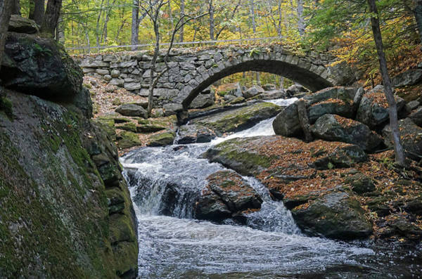 Poster featuring the photograph Stone Arch Bridge In Autumn by Wayne Marshall Chase