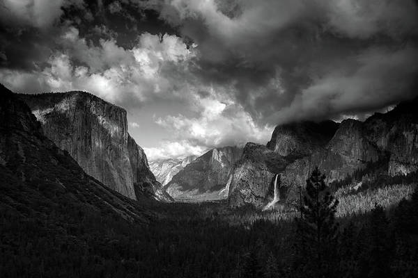 Storm Arrives In The Yosemite Valley Poster