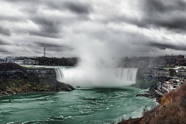 Storm At Niagara Poster
