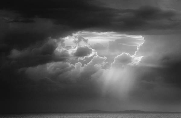 Poster featuring the photograph Storm Clouds Clearing by Michael Hubley