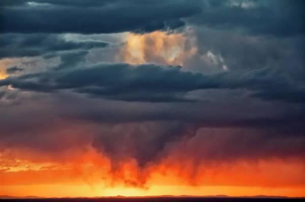 Storm Light Beam, Albuquerque, New Mexico Poster