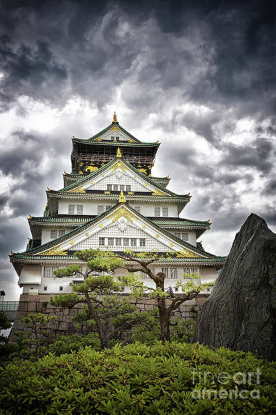 Storm Over Osaka Castle Poster