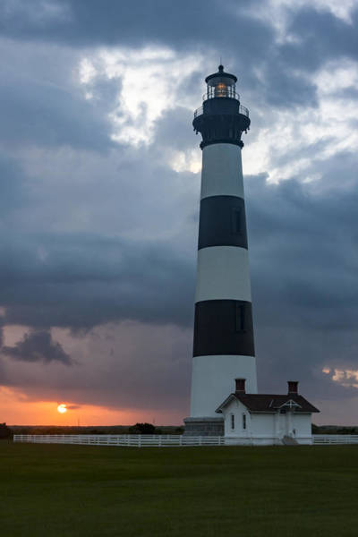 Storm Passes Bodie Island Lighthouse Poster