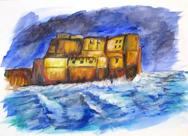 Stormy Castle Dell'ovo, Napoli Poster