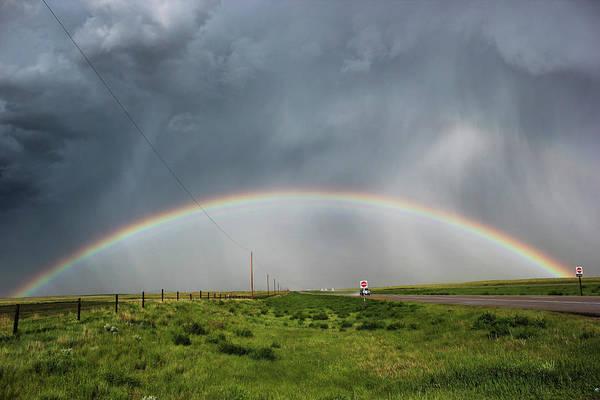 Stormy Rainbow Poster