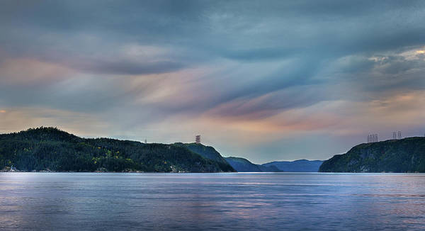 Stormy Saguenay Sunset Poster
